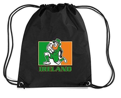 T-Shirtshock - Backpack Budget Gymsac TRUG0114 irish leprechaun rugby 2 logo, Size Capacity 11