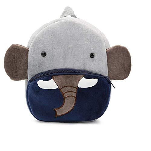 Frantic Premium Quality Soft Blue Elephant Velvet Plush Bag for Kids