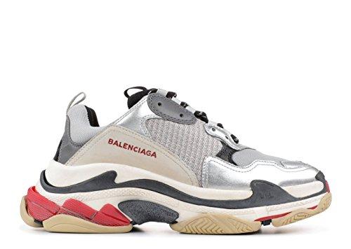 de6c486e8c55b4 TOPSaleTEN Unisex Balenciaga Triple S Sneakers Metallic Silver Damen Herren  Schuhe Trainer Sport Laufschuhe