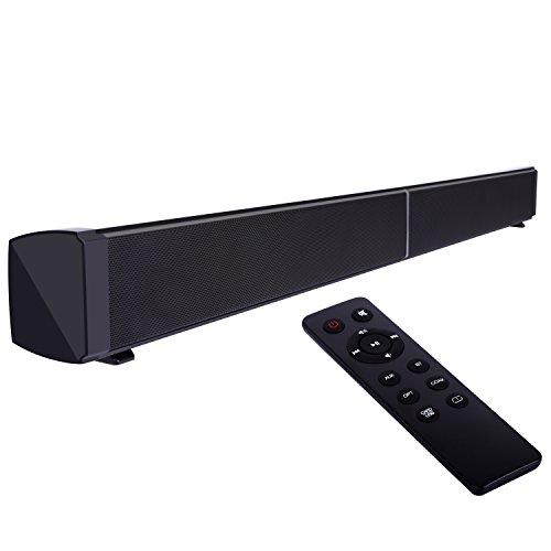 Barra de Sonido con Subwoofers, YOKKAO Altavoz Inalámbrico Bluetooth con Subwoofers Integrados, dispone de Entrada USB/ AUX /Coaxial/ Optica/ Tarjetas TF, Alta Calidad de Sonido para PC Sobremesa / Laptop, Smartphone/ Tablets y MP3