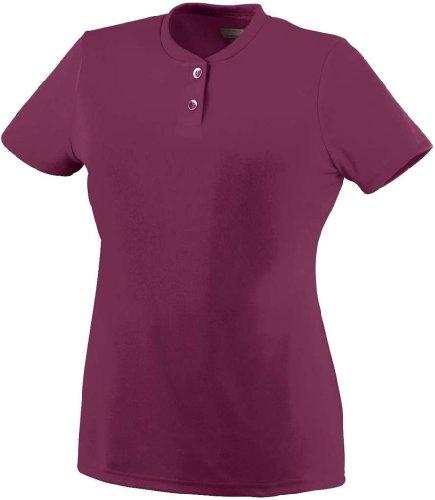 Augusta Sportswear Girls' Wicking Two Button Softball Jersey S Maroon (Maroon Softball)