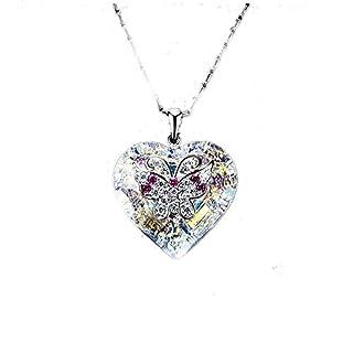 LQT Schmetterling Halskette Damen in Arian 925Avex ein Anhänger Kristall