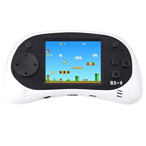 ZHISHAN Kids Classic Retro Handheld videoconsola consola de juegos 2,5'LCD 8 bits 260 en 1 juegos(Blanco)