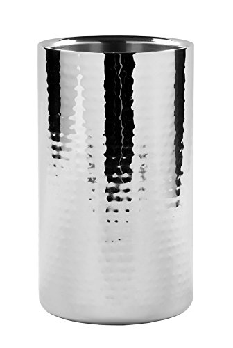 Fink 105002 Kalas Sekt/Weinkühler, Edelstahl, silber, 19 x 11,5 x 19 cm