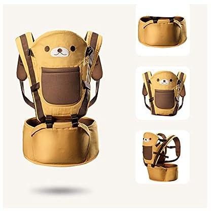 41KynFgwc8L. SS416  - Happy Cherry - Portabebés Ergonómicas con Asiento de Cadera Cintura Ajustable para Bebés Recien Nacido 0-36 Meses Multifuncional