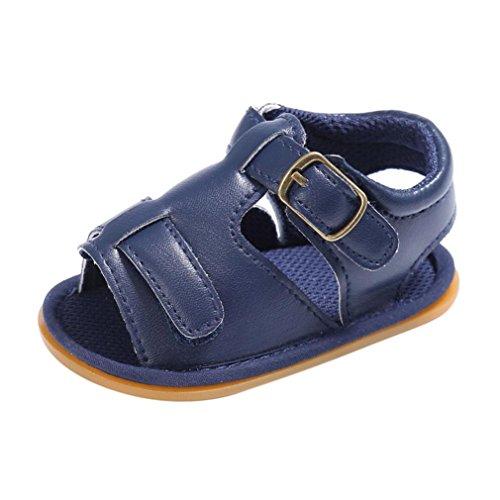 Scarpe per bambini Koly_Bambino neonato della ragazza dei ragazzi Culla del bambino appena nato Sandali Scarpe Navy