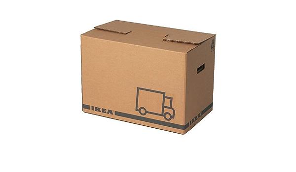 Ikea Lot De 10 Boites De Demenagement Marron Jattene 56 X 33 X 41 Cm Amazon Fr Cuisine Maison