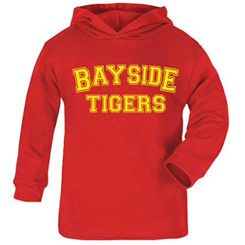 Cloud City 7 Saved by The Bell Inspired Bayside Tigers Baby and Kids Hooded Sweatshirt -