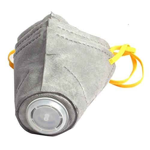 QNMM Hund Schutzmaske Maulkorb, Stereoskopische Baumwolltuch Einstellbar Atmungsaktiv PM2.5 Anti Fog Rauch Abdeckung für Kleine Mittelgroße Hund (3 Stücke),L -