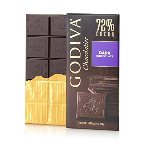 GODIVA Chocolatier Large 72% Dark Chocolate Bar by GODIVA Chocolatier