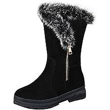 Culater Moda Mujer Botas Plana Invierno Cálido Zapatos de Nieve
