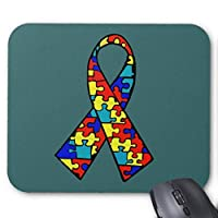 BGLKCS Autism Awareness Jigsaw Puzzle Ribbon Products Mouse Pad