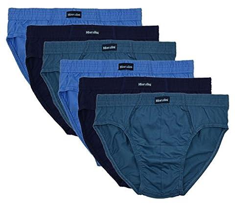 ❯ 6 Slips 100% Baumwolle in klassischen Farbkombinationen ohne Eingriff