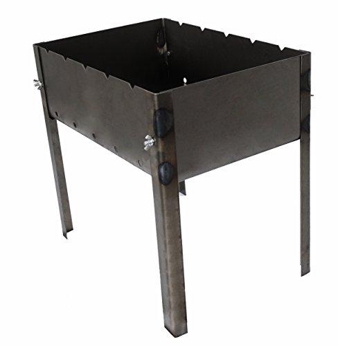 41KyozmPzqL - Grill zerlegbar–Typ Mangal Russische oder Kaukasus–Montage und Demontage sehr einfache–klein–40x 28x 40cm