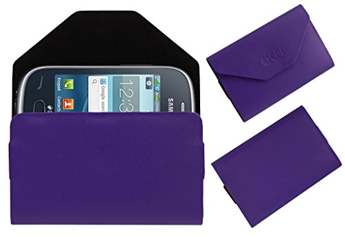 Acm Premium Pouch Case For Samsung Rex 70 S3802 Flip Flap Cover Holder Purple  available at amazon for Rs.389
