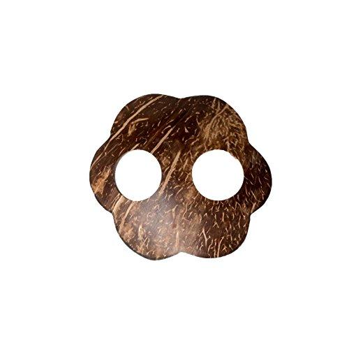 Sarongschnalle Pareo Wickel Rock Schnalle Spange Schliesse aus Kokos zum Sarong binden Wolke (Kokos-schnalle)