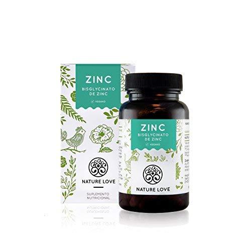 NATURE LOVE Zinc - 365 comprimidos por un inventario del año. 25 mg