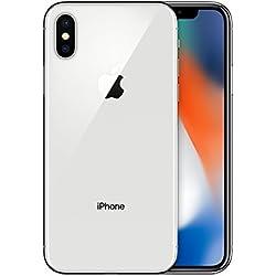 Apple iPhone X Smartphone débloqué 4G (Ecran : 5,8 pouces - 64 Go - Nano-SIM - iOS) Argent