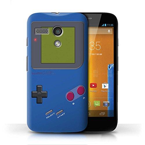Stuff4® Hülle/Case für Motorola Moto G (2013) / Dunkelblau Muster/Videogamer/Gameboy Kollektion - Motorola Case Moto G Gameboy