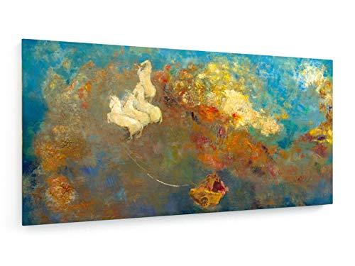 Odilon Redon - Apollos Streitwagen - Malerei - 120x60 cm - Leinwandbild auf Keilrahmen - Wand-Bild - Kunst, Gemälde, Foto, Bild auf Leinwand - Alte Meister/Museum (Griechischer Gott Wagen)