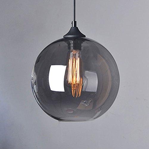 Cozyle Pendentif Vintage suspension à lumière en verre nuances de gris