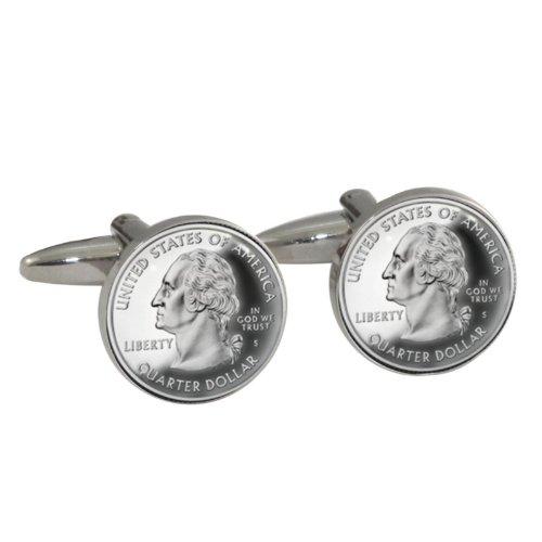 Neuheit Quarter Dollar Design Manschettenknöpfe (Neuheit Währung)