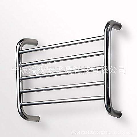 Portasciugamani riscaldato in Acciaio Inox portasciugamani riscaldato il tubo elettrico Doccia shelf di storage