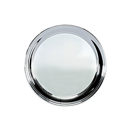 Creative Gifts 12 Vogue Plain Tray, Silver Plated. by Creative Gifts -