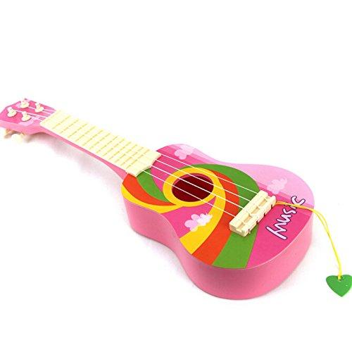 "Rosa Gitarren-saiten (E Support™ 4 Saiten 20"" Süße Kinder Gitarre Kinderspielzeug Musikinstrument Kinder Geschenk Rosa)"