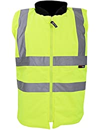 Warrior Mens Phoenix High Visibility Safety Bodywarmer Jacket