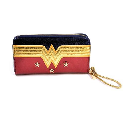 Logo officiel de Wonder Woman de DC Comics sous licence et grand porte-monnaie Stars