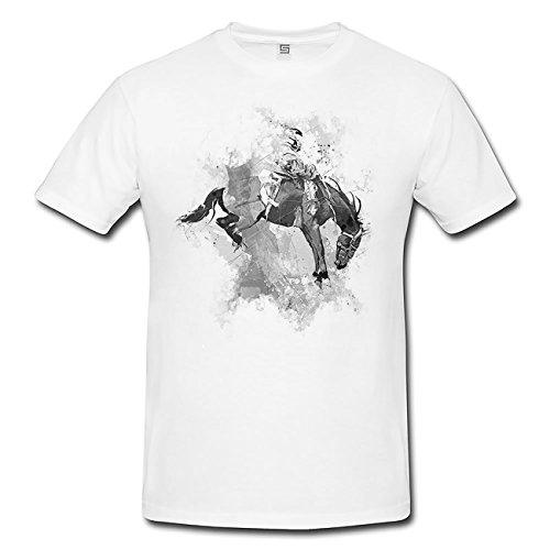 Rodeo T-Shirt Mädchen Frauen, weiß mit Aufdruck (Rodeo T-shirts Für Frauen)