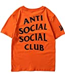 Unisex Hip Hop Mode Anti Social Social Club T-Shirt Sweat Tee Style Tee (M, Gelb)