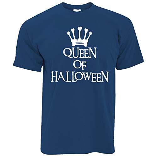 Neuheit Spooky T-Shirt Queen of Halloween Crown Royal Blue - Crown Royal Kostüm Mädchen