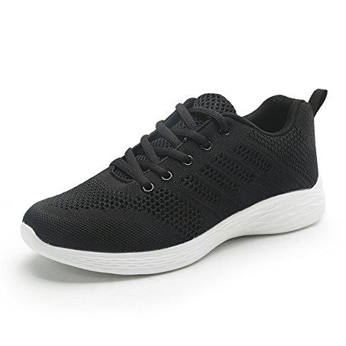 ALI&BOY Donna Scarpe da Ginnastica Sneakers Sportive Running Fitness Gym Shoes (37 EU, Nero-3)