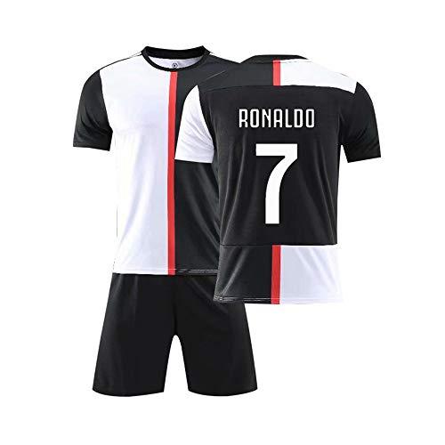 LLMM Trikot Fußball Trikot Juventus F.C Trikot 7/10/33# Trikot Erwachsene Kinder Anzug Kurzarm + Shorts Fußball Uniform,7#,26~(Child/150~155cm) -