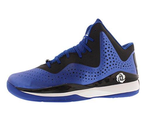 adidas D Rose 773 III Mens Basketball Shoe 10 Black-Scarlet blue