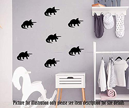 Triceratops Dinosaurier Wandaufkleber, Dino Set Wandtattoo, Spielzimmer Kinderzimmer Dekor, Jurassic Welt Thema Wandaufkleber, Triceratops Set Kunst - Spielzimmer-set
