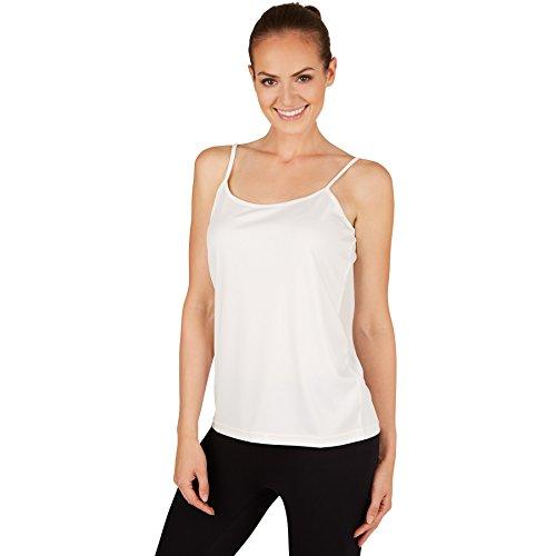 TecTake Haut à bretelles fines pour femme | Grand confort de port | Belle matière - diverses couleurs et tailles S | Blanc | no. 301245