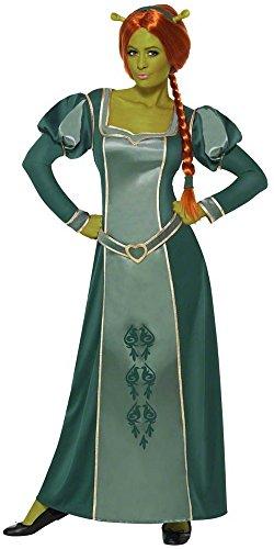 Damen Kostüm Perücke Fiona Princess Shrek Ohren und Ogre Plus
