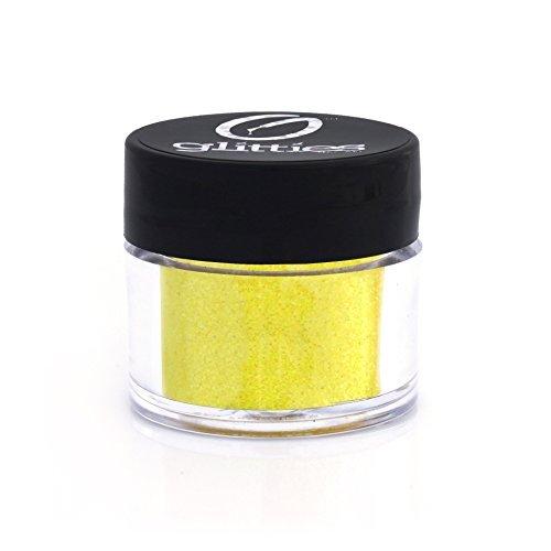 Gone Bananas - Bright Iridescent Yellow Fine Glitter Powder .008 - Loose Glitter Perfect for Nail Art, Nail Gels, and Nail Acrylics Supplies- Made in the USA! (10 Gram Jar/.25 oz) by Glitties Nail Art - Nail Usa Supplies Art