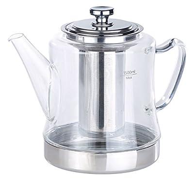 Théière-bouilloire 1,5 L avec passe-thé en acier inoxydable [Rosenstein & Söhne]