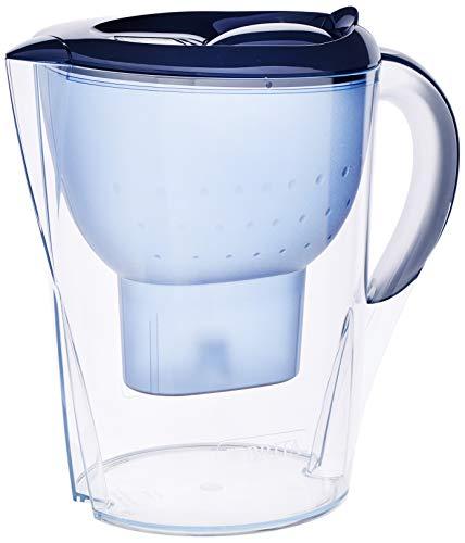 BRITA Marella XL - Jarra de Agua Filtrada con 1 Cartucho MAXTRA+, Filtro de Agua que Reduce la Cal y el Cloro, Agua FIltrada para un Sabor Óptimo, Color Azul