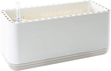 AIRY L Blumentopf - Patentierter Pflanzentopf für Gesunde Raumluft. Natürlicher Luftreiniger mit Pflanzen, ohne Strom u. Chemie (Snow White)