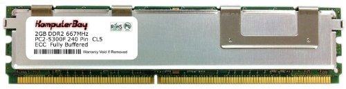 Komputerbay RAM-Speicher, voll gepuffert, 2GB (1x2GB), DDR2 667MHz, PC2-5300 ECC FB Dual Rank 2Rx4 - Fb, Voll Gepuffert