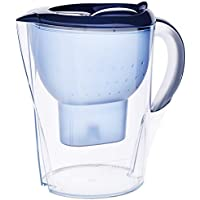 Brita Marella Xl Jarra de Agua Filtrada con 1 Cartucho Maxtra +, Filtro de Agua Brita que Reduce la Cal y El Cloro, Agua Filtrada para un Sabor Excelente, Color Azul