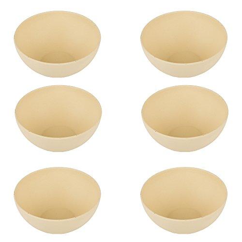 pandoo Bambus Schüsseln 6er-Set - BPA-Frei & lebensmittelecht - Picknick & Camping Geschirr