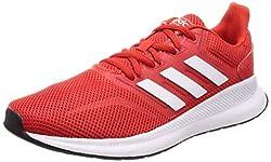adidas Herren Runfalcon Laufschuhe, Rot (Active Red/Footwear White/Core Black 0), 44 EU