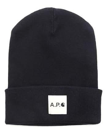 A.P.C x CARHARTT - Bonnets - Homme - Bonnet bleu marine Logo - Taille Unique