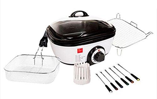 Chef Master Kitchen Quick Cooker - Robot de cocina con recetario y accesorios, 7 programas de cocción, 1300 W